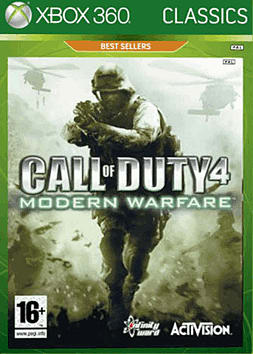 Call of Duty 4: Modern Warfare Classics Xbox 360 Cover Art