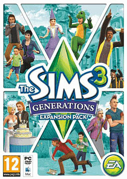 The Sims 3: Generations PC Games Cover Art