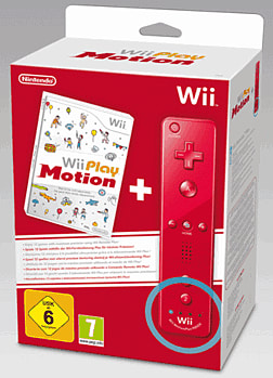 Wii Play: Motion with Red Wii Remote Plus Nintendo Wii Cover Art
