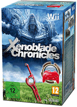 Xenoblade Chronicles (with red Classic Controller) Nintendo Wii Cover Art