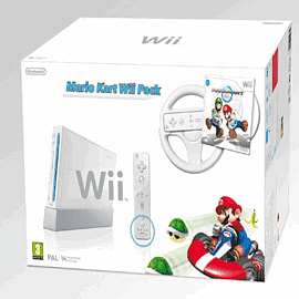 Nintendo Wii White Console with Mario Kart Wii 