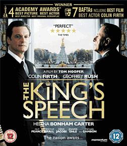 Kings Speech Blu-ray