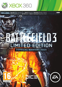 Battlefield 3 Limited Edition: Physical Warfare Pack Xbox 360 Cover Art