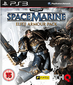 Warhammer 40K Space Marine Elite Armour Pack PlayStation 3 Cover Art