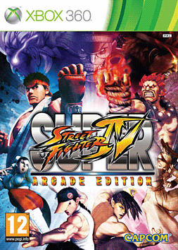 Super Street Fighter IV Arcade Edition Xbox 360 Cover Art