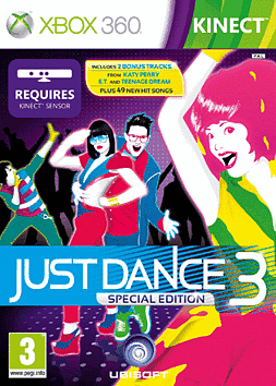 Just Dance 3 Xbox 360 Kinect Cover Art