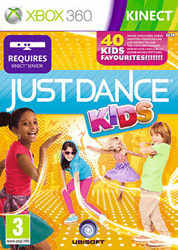 Just Dance Kids Xbox 360 Kinect Cover Art