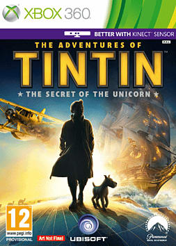 The Adventures of Tin Tin Xbox 360 Cover Art