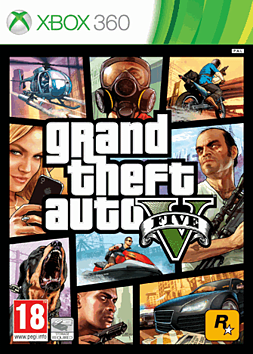 X360 GRAND THEFT AUTO V Xbox 360 Cover Art