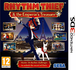Rhythm Thief & the Emperor's Treasure 3DS Cover Art