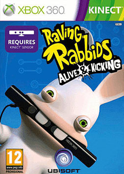 Raving Rabbids Alive & Kicking Xbox 360 Kinect Cover Art
