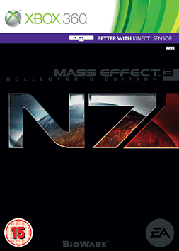 Mass Effect 3 N7 Collector's Edition Xbox 360 Cover Art