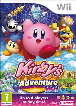 Kirby's Adventure Wii Cover Art