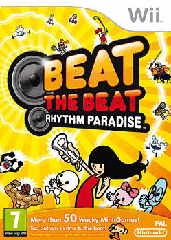 Beat the Beat: Rhythm Paradise Wii Cover Art