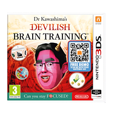 Dr Kawashima's Devilish Brain Training: Can you stay Focused? 3DS Cover Art