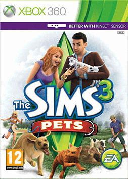 Sims 3: Pets Xbox 360 Cover Art
