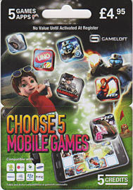 Gameloft Games Card Gifts