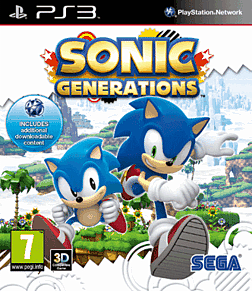 Sonic Generations PlayStation 3 Cover Art