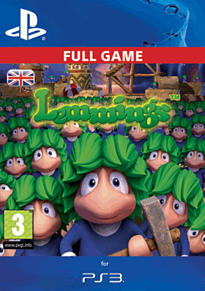 Lemmings PlayStation Network Cover Art