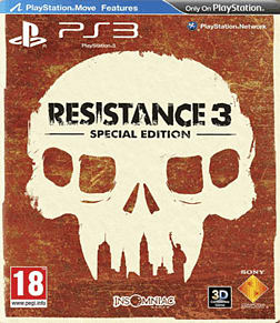 Resistance 3 Survivor Edition PlayStation 3 Cover Art