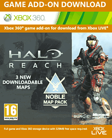 Halo Reach Noble Map Pack Xbox Live Cover Art
