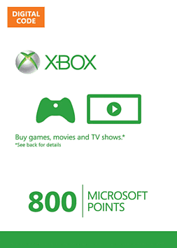 Xbox Live Marketplace 800 Points 800 Points Cover Art