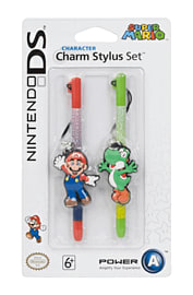 Nintendo Licensed Character Charm Stylus Twin Pack - Mario & Yoshi Counter Basket