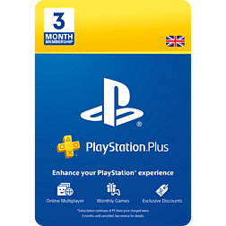 PlayStation Plus 3 Month Membership PlayStation Network Cover Art