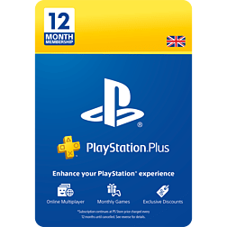 PlayStation Plus 12 Month Membership* PlayStation Network Cover Art