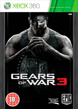 Gears of War 3 Steelbook Edition Xbox 360 Cover Art