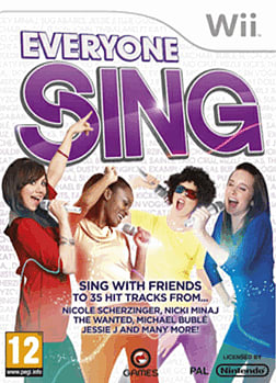 Everyone Sing Wii Cover Art