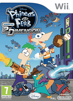 Phineas and Ferb Across the 2nd Dimension Wii Cover Art