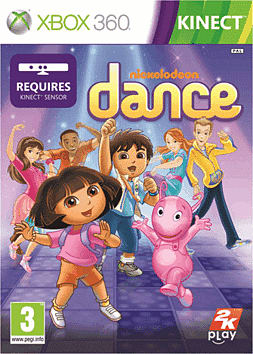 Nickelodeon Dance Xbox 360 Kinect Cover Art
