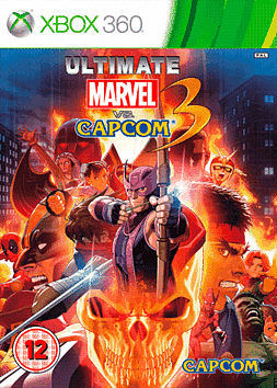 Ultimate Marvel Vs Capcom Xbox 360 Cover Art