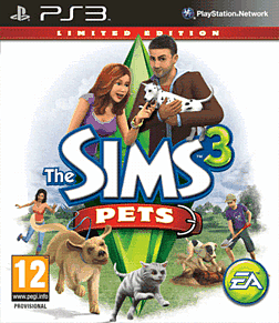 Sims 3: Pets Limited Edition PlayStation 3 Cover Art