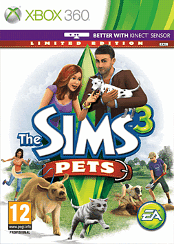 Sims 3: Pets Limited Edition Xbox 360 Cover Art