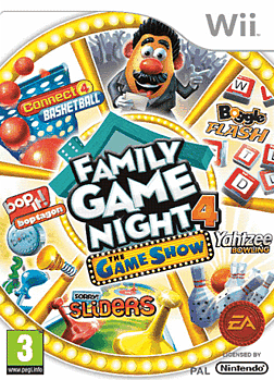 Hasbro Family Game Night 4: The Game Show Edition Wii Cover Art