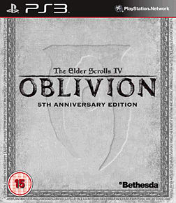 The Elder Scrolls IV: Oblivion 5th Anniversary Edition PlayStation 3 Cover Art