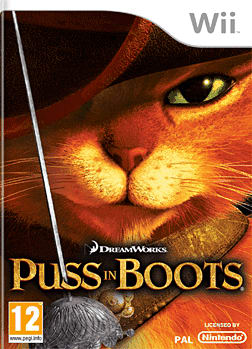 Puss in Boots Wii Cover Art