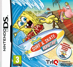 Spongebob Squarepants: Surf and Skate Road Trip Dsi and DS Lite Cover Art