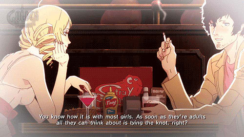 Anime-like story scens from Catherine
