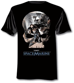 Space Marine T-shirt - Skull Design (Large) Clothing and Merchandise