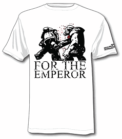 Space Marine T-shirt - For the Emperor (Small) Clothing and Merchandise