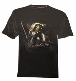 Space Marine T-shirt - Back Print (XL) Clothing and Merchandise 