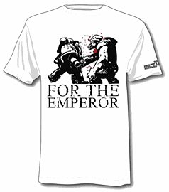 Space Marine T-shirt - For the Emperor (XXL) Clothing and Merchandise
