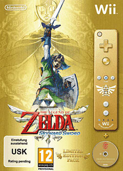 The Legend of Zelda Skyward Sword Bundle Wii Cover Art