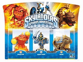 Skylanders: Triple Character Pack with Chop Chop, Bash and Eruptor Toys and Gadgets