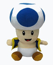 New Super Mario Bros. Plush - Toad (Blue) Toys and Gadgets