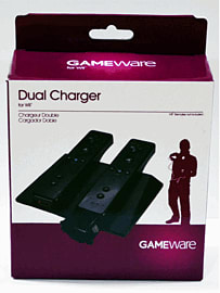 GAMEware Black Double Charging Station for Wii Accessories
