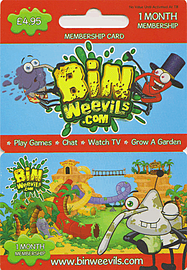 Bin Weevils 1 Month Membership Card Accessories